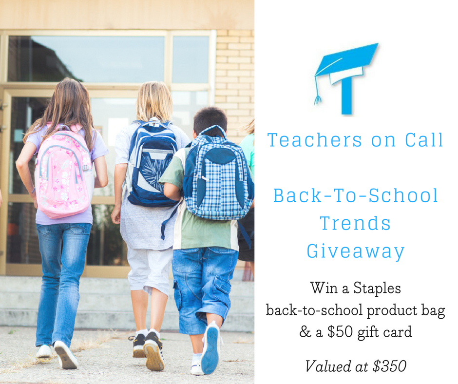 Teachers on Call Back To School Giveaway